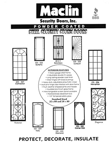 Customized Security Doors for Homes In and Around the Mid-South Area